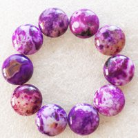 Wholesale Intriguing Fashion Purple New Ocean Jasper Round CAB CABOCHON x6mm