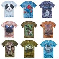 Wholesale high quality cotton mens tie dye short sleeve d printing various designs and colors t shirt top mens cotton t shirt