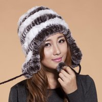 Wholesale New Rabbit fur hat wool hat Ms Rabbit fur hat winter mandatory tb45