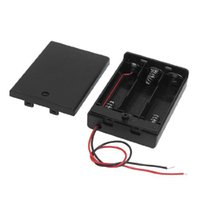 Cheap IMC Wholesale Two Wire Leads Black 3 x 1.5V AA Battery Holder Case w Cover order<$18no track