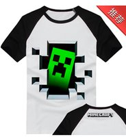 Wholesale Short sleeved cotton clothes for men and women coolies fear new animation minecraft