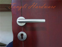 Door Handles interior door handles - Big promotion for stainless steel L shape lever room door handle for interior room direct selling kg per pair