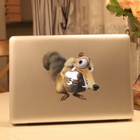 Wholesale Squirrel Vinyl Decal Sticker for Apple Macbook Pro Air Retina inch Laptop Case Cover Cartoon Skin Sticker drop shipping