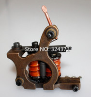 tattoo gun frames - Hot Sell TOP Professional Pure Handmade Tattoo Machines With High quality Cast Copper Frame Wrap Coils Tattoo Gun For Liner