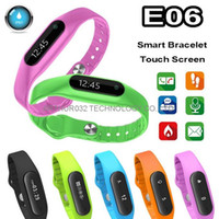 green screen - E06 OLED Touch Screen Smart Wristband Bracelet Bangle Fitness Wearable Tracker Waterproof IP67 Bluetooth Watch for Android IOS Phone