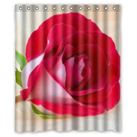 beautiful love pictures - Home Creations Print Colorful Flowers Love Red Rose Pink White Beautiful Pictures Custom Shower Curtain quot x quot