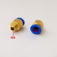 Wholesale 20pcs mm Tube M8 Thread Pneumatic Fitting Quick joint connector PC8 M8