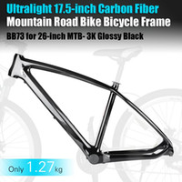 Wholesale Ultralight inch Carbon Fiber Mountain Road Bike Bicycle Frame BB73 for inch MTB K Glossy Black P0025257