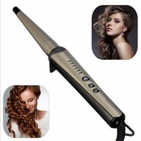 battery tapers - 1PC Modern Design Professional Salon Gears Tapered Hair Hot Ceramic Curling Iron Wave Wand Home Hair Styling tools