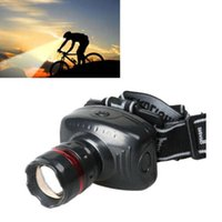 Wholesale Newest Arrivals Hot Selling w Led Headlamp Torch Headlight Head Light Zoomable Lamp Flashlight Camping c40