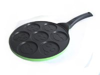 Wholesale Griddle pot Barbecue Burger Fried Eggs hole disc cake pan non stick pan advanced casting