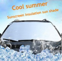 Wholesale Car Sunshade Silver Front Window Solar Protection Sunshade Aluminum Foil Car Window Film Car Styling Sun Shade Car Covers