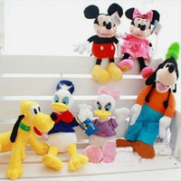 mickey mouse plush toy - 6pcs set Mickey mouse minnie mouse Donald duck Daisy GOOFy dog Pluto dog plush soft toys mickey mouse sofft baby plush toys