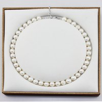 real pearl - Real Pearl Necklace with Rib for Women Good Looking Fresh Water Pearl Adjustable Strap High Quality Jewelry Necklace
