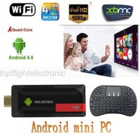 Wholesale RC Air Mouse keyboard GB GB RK3188 MK809IV Android Quad Core Wifi Google TV Box TV Stick Dongle