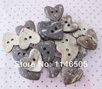 Wholesale Coconut Heart Buttons - 500pcs 7mm 2 holes natural heart coconut button wood cute cartoon wooden buttons Sewing Buttons clothing set Craft Accessories