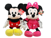 Wholesale New Hot cm pink Lovely Stuffed Animal Mickey Mouse And Minnie doll plush toys for children baby toys