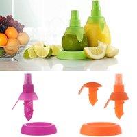 Wholesale 2Pcs set Cooking Tools Lemon Fruit Citrus Lime Orange Stem Sprayer Juice Maker Juicer Kitchen Supplies ZH234