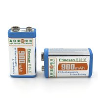 9v Rechargeable 8.4v 2pcs lot Etinesan 9V 900mAh Li-ion Rechargeable Lithium Battery long lasting Fit for wireless Microphones,toy,multimeter ect.
