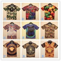 aeropostale - 2016 New Fashion Men s D t shirts Print Cartoon Anime Men s Clothing shirts For men boys Summer Camo skull roses kitten