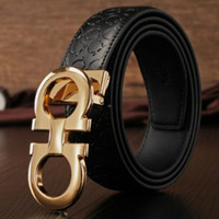 Wholesale Brand designer mens belt luxury style real leather belts for men metal buckle genuine leather belt male strap Fashion Belt for women belts A