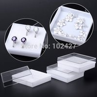 Wholesale Storage Box Clear Acrylic Square Jewelry Holder Box Plastic Rings Earrings Jewelry Bin Case Container