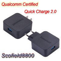 Wholesale for Asus Zenfone Samsung Galaxy S6 note Xiaomi Mi4 HTC Tronsmart TS WC1Q Qualcomm Certified Quick Charge USB Wall Charger