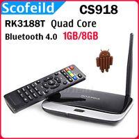 Wholesale CS918 RK3188T Quad Qore Android TV BOX Mini PC Smart TV GB RAM GB ROM Bluetooth External Wifi Antenna Android