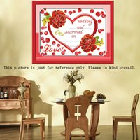 Wholesale DIY Handmade Needlework Chinese D Counted Cross Stitch Set Embroidery Kit CT Romantic Love Pattern Cross Stitching H15414