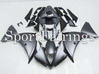 Yzf r1 12 France-Carénages d'injection pour Yamaha YZF1000 <b>YZF R1 12</b> 13 2012 2013 Plastiques ABS Carénages Carrosserie complète Carénage Carrosserie Cowling Flat Black