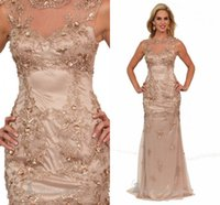 Reference Images Off-the-Shoulder Stretch Satin 2015 Perfect Embroidery Crystal Lace Sheath Sleeveless Formal Dress Long Mother of the Bride Dresses For Wedding Evening Gowns