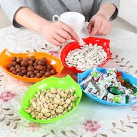 beautiful trays - Fruit Dishes Plates Dish Leaf Plant Snack Tray Dried Fruit Plate Stackable Beautiful Plates Free Drop Shipping High Quality
