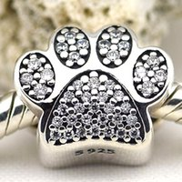 pandora jewelry - pandora Silver Paw Prints Charm sterling silver charms loose beads diy jewelry for thread bracelet