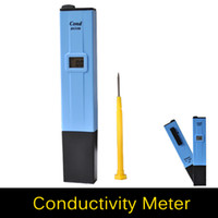 Wholesale Digital LCD Electrical Conductivity Meter EC Tester Pen with Auto Temperature Compensation ATC For Water Quality Treatment