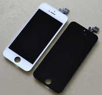 Cheap For Iphone 5s Replacement Lcd Touch Screen Digitizer complete Assembly with Frame for iPhone 5 5s Black White Color 10pc lot