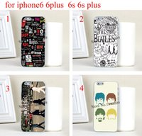 beatles apple logo - 4pcs The beatles band logo collection Hard Skin Transparent stealth Case Cover for iPhone s iphone s plus