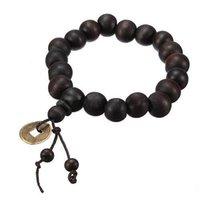 achat en gros de perles poignet de prière-2015 WFashion perlé Strands Bois Bouddha bouddhistes Chapelet Tibet Bracelet Mala Bangle Wrist Ornement Livraison Tibet Jewelery gratuit