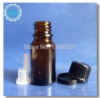 best small caps - Best price top quality ml amber glass essential oil bottle with Small Black Tamper proof cap Plastic dropper