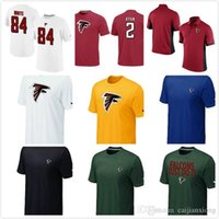 authentic tshirts - Falcons Chest embroidered logo TShirt Heart Soull Sideline Legend Authentic T Shirt Matt Ryan Player Pride Name Number TShirts Mens