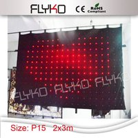 Wholesale good price m P15 soft flexible led curtain led video curtain backdrop with controller