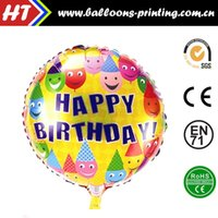 auto trade supplies - 50pcs alumnum balloons Festival party supplies inch circular arrangement birthday party balloon helium balloon decoration trade show auto