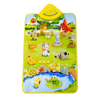 Wholesale Musical Carpet Animal Farm Baby Touch Piano Kids Music Play Cushion Mat Fun Toy Multi color cm