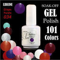 Wholesale 2015 New Arrival Top Quality Long lasting Colors soak off gel polish nail UV gel lacquer varnish Color ml