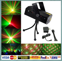 laser show equipment - FedEx Free V LED Mini Stage Xmas Party Laser Lighting Holographic lamps strobe R G DJ equipment Disco Pub Light effect Show Projector