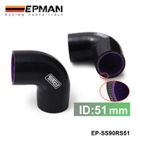 Wholesale Tansky EPMAN High Quality quot mm Degree Elbow Silicone Hose Pipe Turbo Intake Black Purple EP SS90RS51