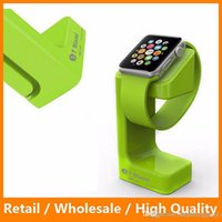 Wholesale E7 Apple Watch Stand Holder Charging Holder Plastic Desktop Charging Station for Apple Watch Stand with Retail Packing