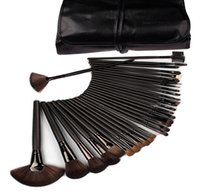 Wholesale 2015 New Professional Makeup Brushes Make Up Cosmetic Brush Set Kit Tool Roll Up Case Free Ship