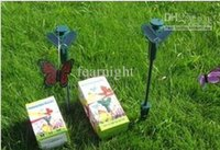 Wholesale 2015 Solar Power Flying Butterfly Garden Yard Decoration solar butteryfly