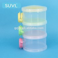 baby milk powder - Switch colorful three layers plastic baby milk powder container for baby