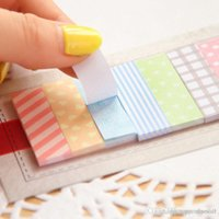 Wholesale 2 Cute Pages Sticker Post It Bookmark Point It Marker Memo Flags Sticky Notes Scrapbooking Sticker Paper A5